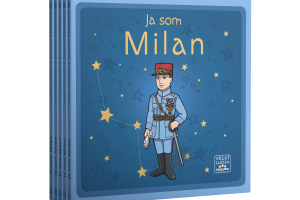 5x Kniha Ja som Milan s omaľovánkou