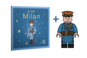 Kniha Ja som Milan s Lego figúrkou